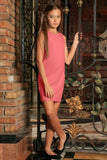Coral Pink Stretchy Beautiful Spring Sleeveless Shift Dress - Girls