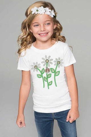 Daisy Flower Boho Tee - Girls - Pineapple Clothing