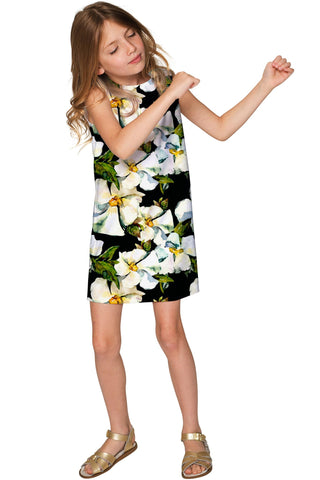 Date Night Adele Elegant Floral Party Shift Dress - Girls - Pineapple Clothing