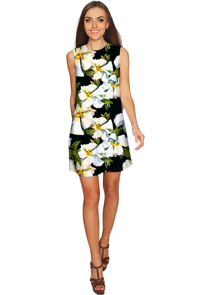 Date Night Adele Floral Print Party Chic Shift Dress - Women