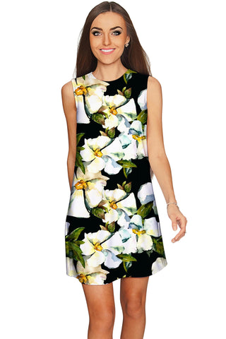 Date Night Adele Floral Print Party Chic Shift Dress - Women - Pineapple Clothing