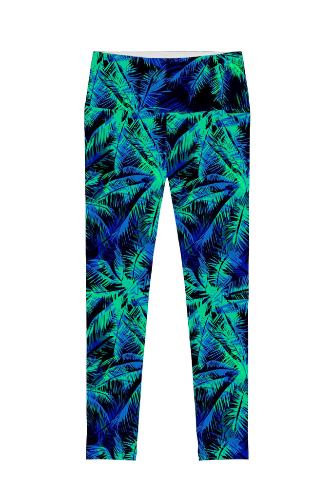Electric Jungle Lucy Printed Performance Leggings - Women - Pineapple Clothing