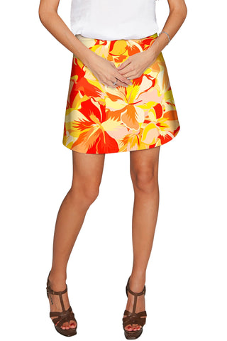 Flaming Hibiscus Aria A-Line Skirt - Women - Pineapple Clothing