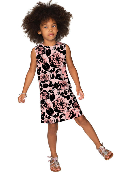 Flirty Girl Adele Beautiful Floral Classy Shift Dress - Girls