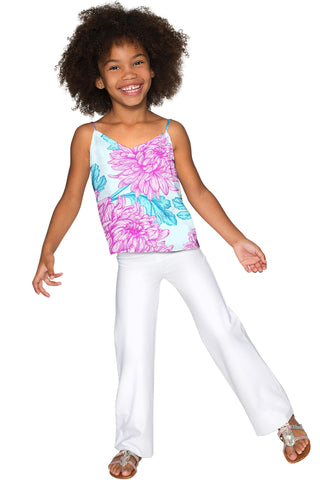 Floral Bliss Ella V-Neck Stretchy Camisole - Girls - Pineapple Clothing