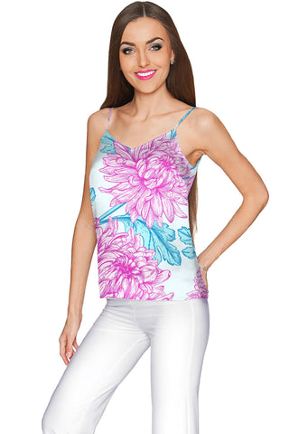 Floral Bliss Ella V-Neck Stretchy Camisole - Women - Pineapple Clothing