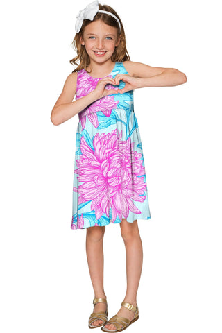 Floral Bliss Sanibel Cute Empire Waist Summer Dress - Girls - Pineapple Clothing