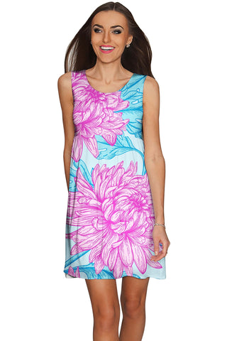 Floral Bliss Sanibel Empire Cut Summer Dress - Women - Pineapple Clothing