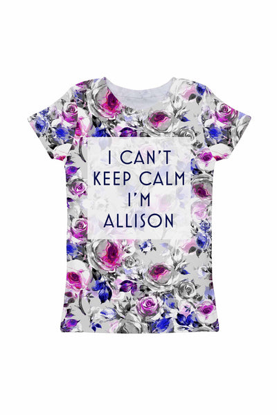 Floral Touch Customized NAME Zoe T-Shirt - Girls