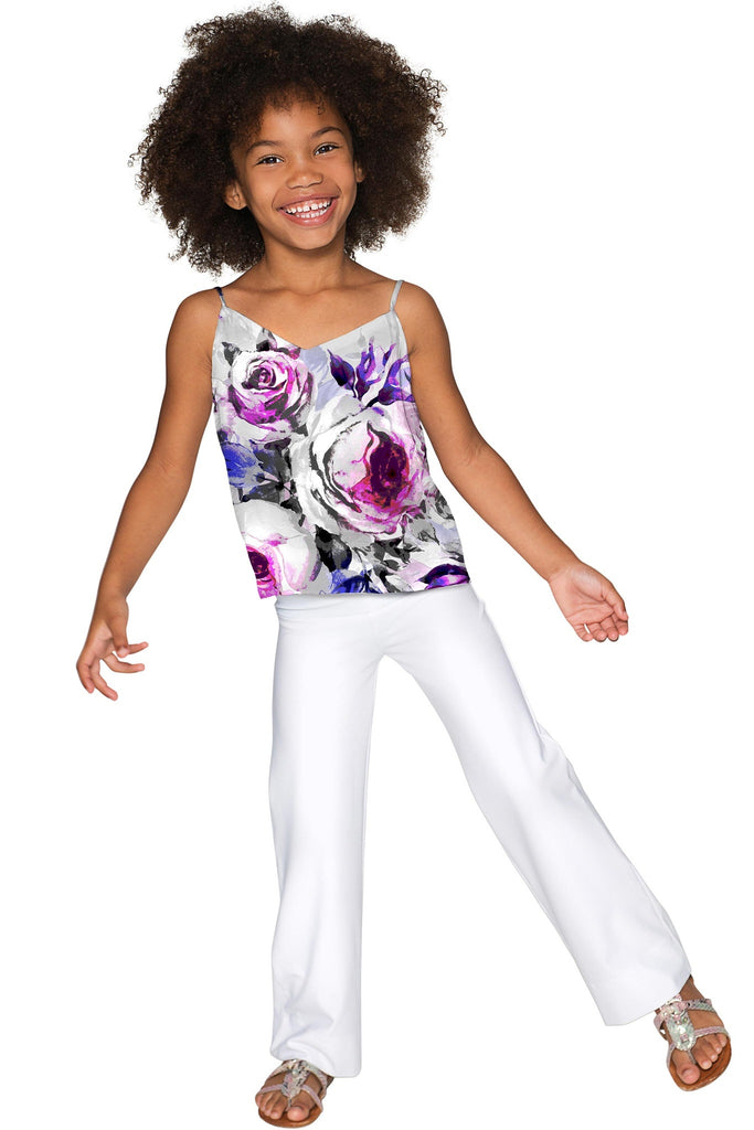 Floral Touch Ella V-Neck Camisole - Girls - Pineapple Clothing