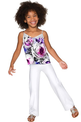 Floral Touch Ella V-Neck Stretchy Camisole - Girls - Pineapple Clothing
