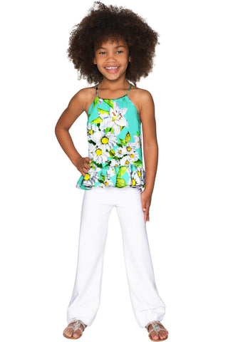 Flower Party Audrey Chiffon Halter Top - Girls - Pineapple Clothing