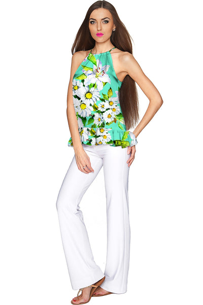 Flower Party Audrey Chiffon Halter Top - Women