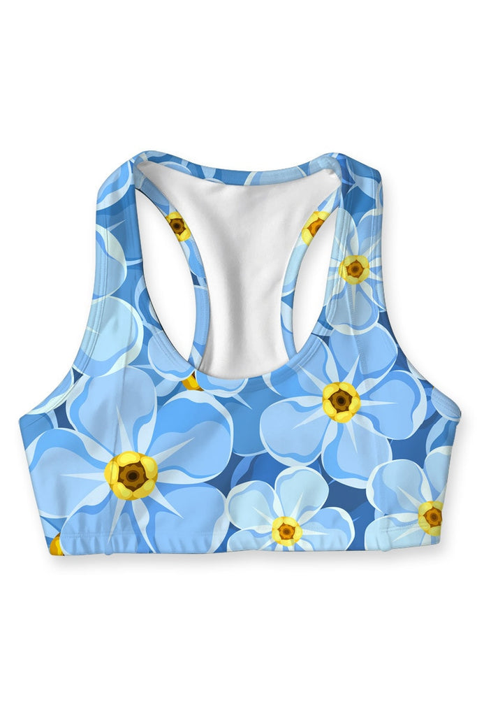 Forget-Me-Not Stella Seamless Racerback Sport Bra - Women - Pineapple Clothing