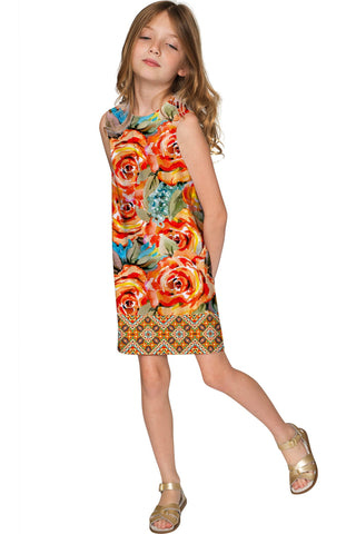 Fox Adele Pretty Printed Stylish Shift Yellow Dress - Girls - Pineapple Clothing