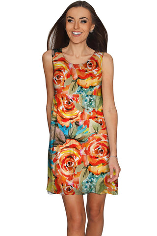 Fox Sanibel Empire Waist Yellow Flower Print Dress - Women - Pineapple Clothing