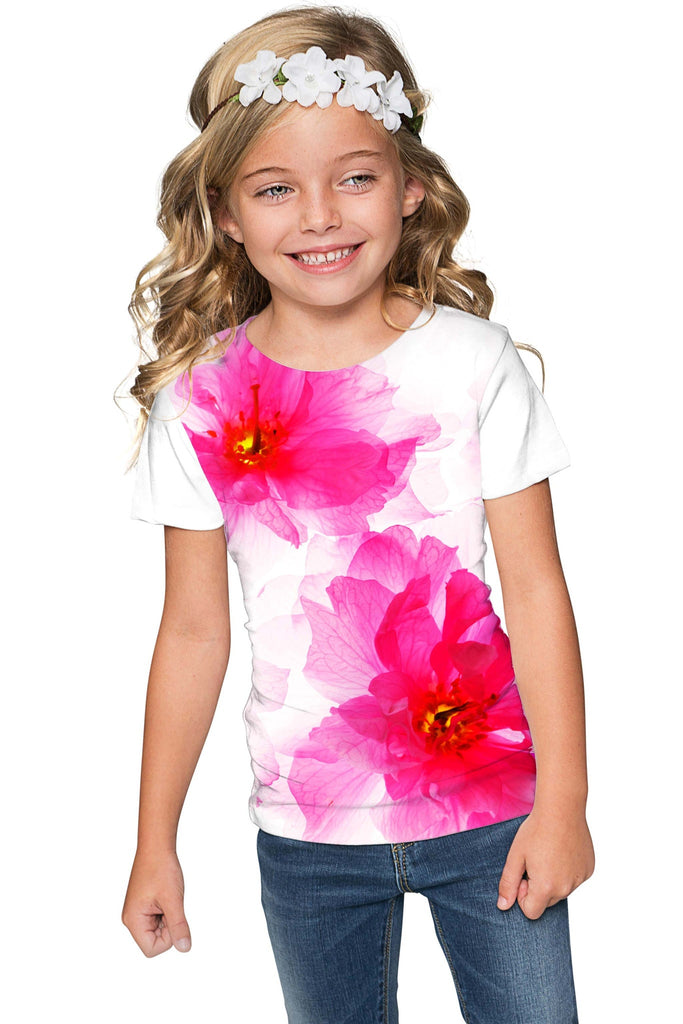 Fragrance Zoe Pink Floral Print Cute Designer T-Shirt - Girls - Pineapple Clothing
