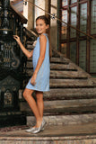 Baby Blue Crochet Lace Shift Party Cocktail Spring Dress - Girls - Pineapple Clothing