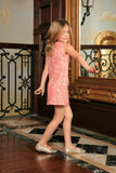 Dusty Pink Lace Cute Beautiful Princess Party Shift Dress - Girls - Pineapple Clothing