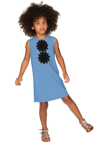 1b9af132fddf Blue Cute A-line Shift Trapeze Sleeveless Party Dress - Girls - Pineapple  Clothing