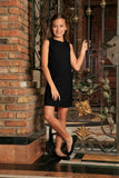 Black Stretchy Trendy Party Must-Have Chic Mommy and Daughter Dresses - Pineapple Clothing