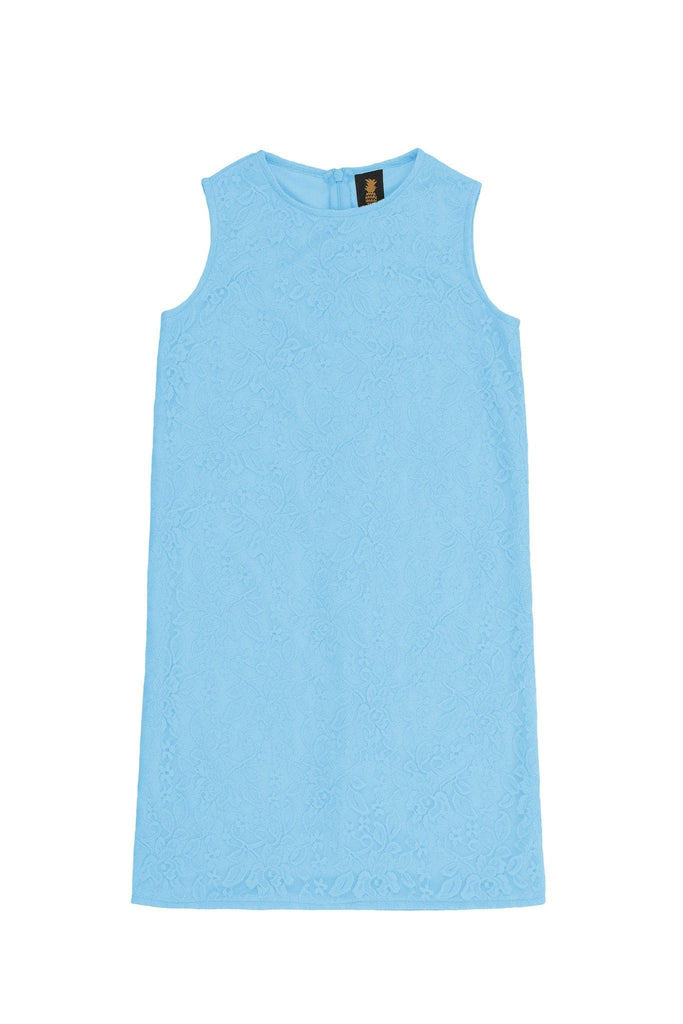 Baby Blue Stretchy Lace Sleeveless Summer Mommy & Me Dress Plus Size - Pineapple Clothing