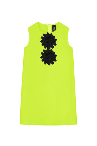 d2ec6c6ae759 Neon Yellow Black Beige A-line Shift Trapeze Party Dress - Girls - Pineapple  Clothing