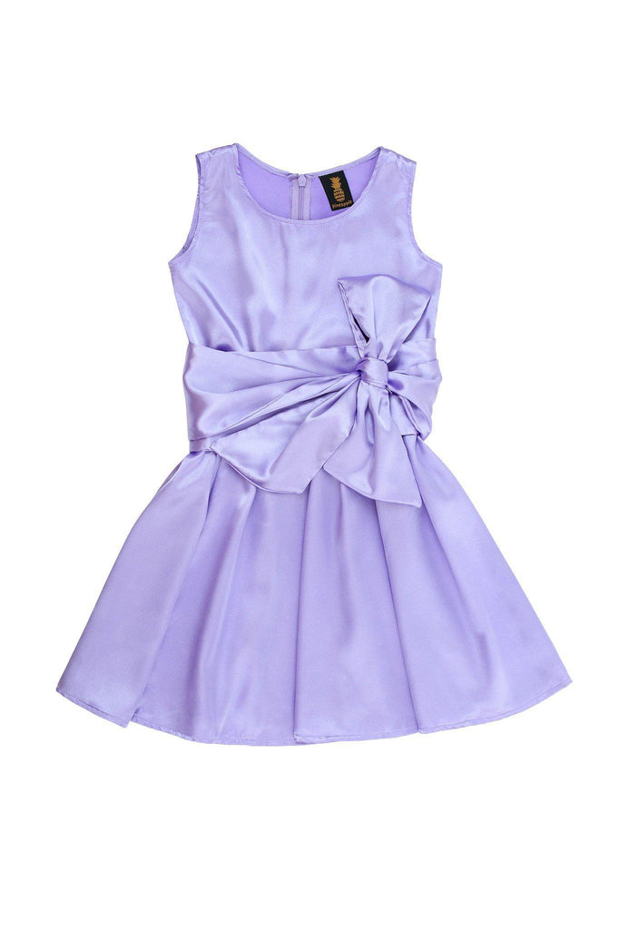 Lavender Sleeveless Skater Fit Flare Party Mother Daughter Dress with belt