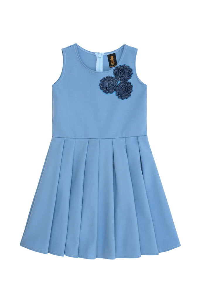 b8a028edbebf Blue Fancy Fit & Flare Skater Christmas Party Dress - Girls - Pineapple  Clothing