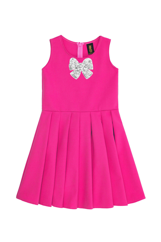 Hot Pink Fuchsia Fancy Fit & Flare Skater Christmas Party Dress ...