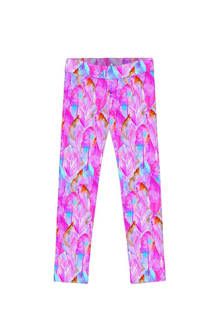 Impression Lucy Cute Pink Colorful Boho Print Leggings - Girls - Pineapple Clothing