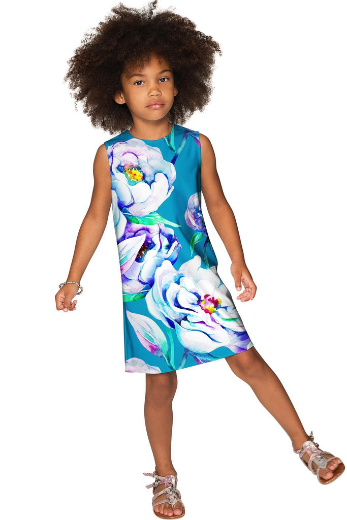 Gentle You Adele Fancy Floral Pattern Shift Party Dress - Girls - Pineapple Clothing