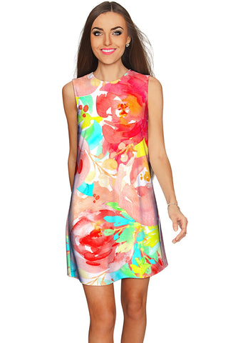 Good Idea Adele Floral Print Summer Shift Dress - Women - Pineapple Clothing
