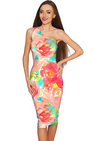 Good Idea Layla Floral Summer Bodycon Eco Dress - Women - Pineapple Clothing