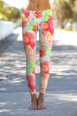 Little Good Idea Lucy Floral Performance Leggings - Women - Pineapple Clothing