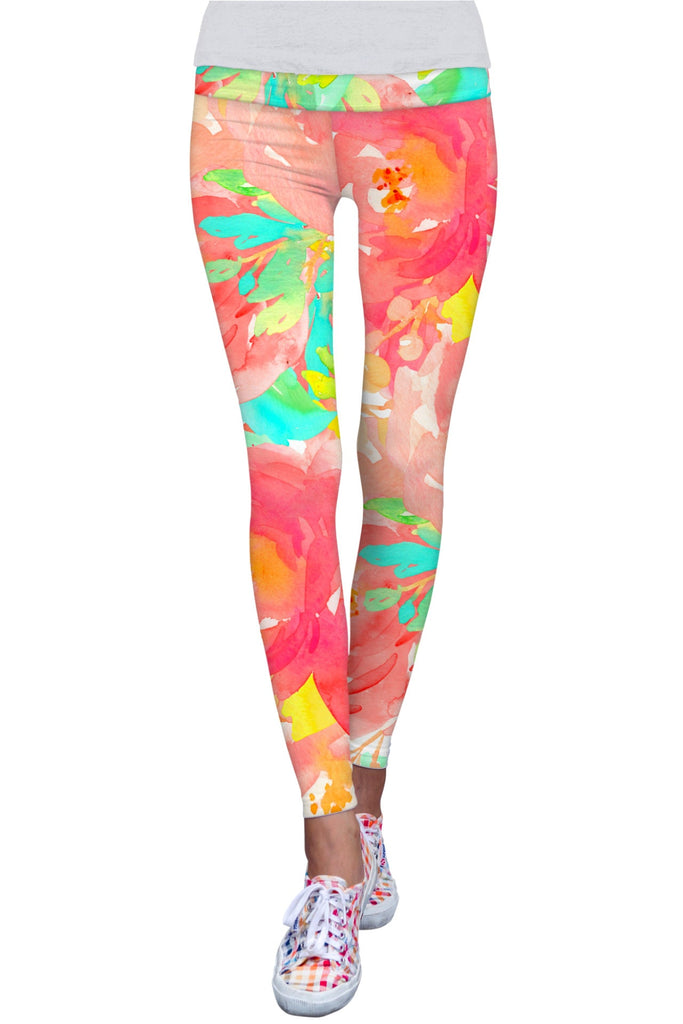 Good Idea Lucy Floral Print Performance Leggings - Women - Pineapple Clothing