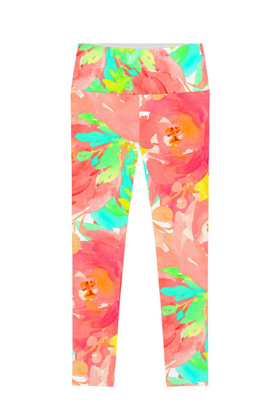 Good Idea Lucy Floral Print Performance Leggings - Women