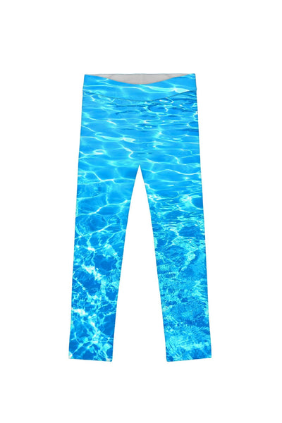 Harmony Song Lucy Cute Blue Water Printed Leggings - Girls