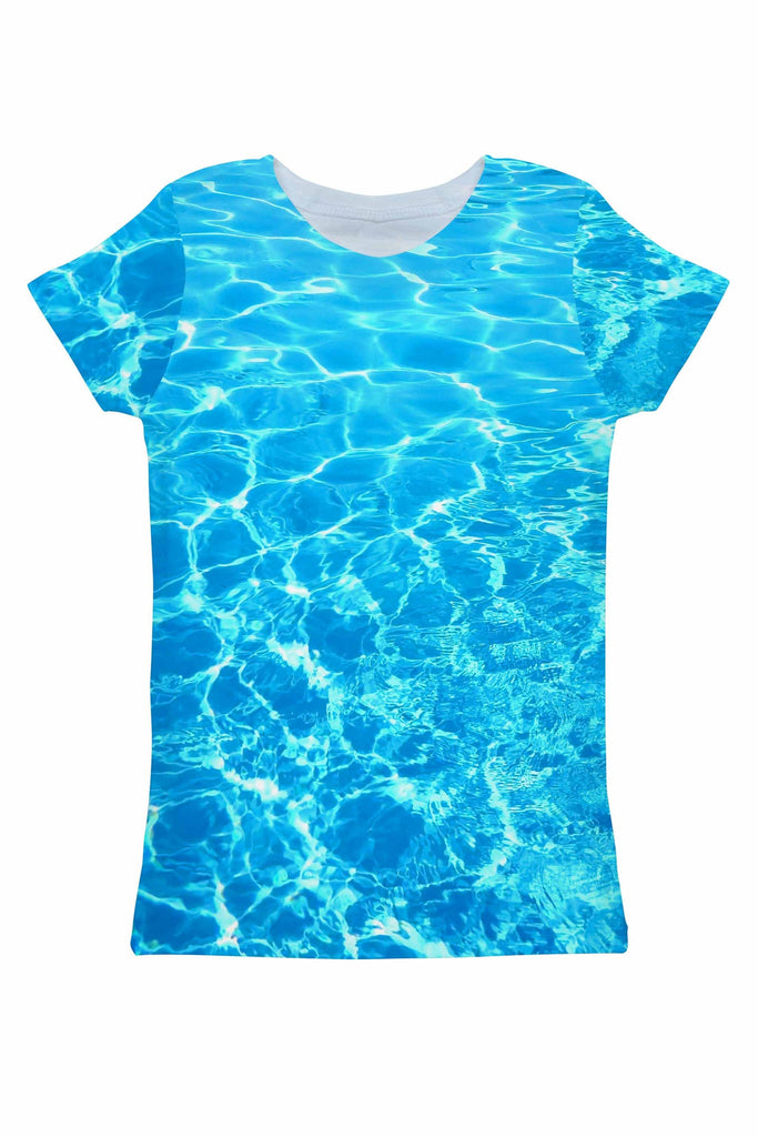 Harmony Song Zoe Blue Water Print Eco T-Shirt - Women - Pineapple Clothing
