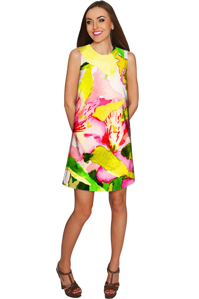 Havana Flash Adele Bright Summer Shift Dress - Women