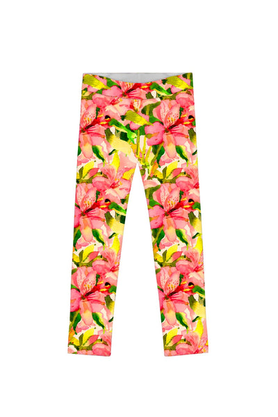 Havana Flash Lucy Colorful Floral Print Knit Leggings - Girls - Pineapple Clothing
