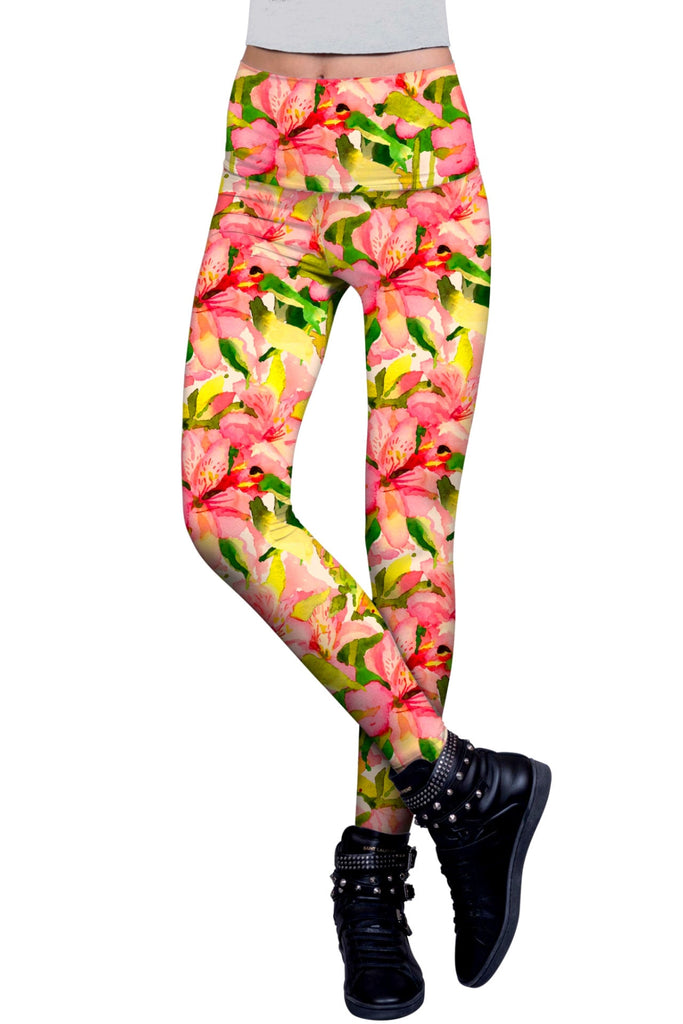 Havana Flash Lucy Floral Print Performance Legging - Women - Pineapple Clothing
