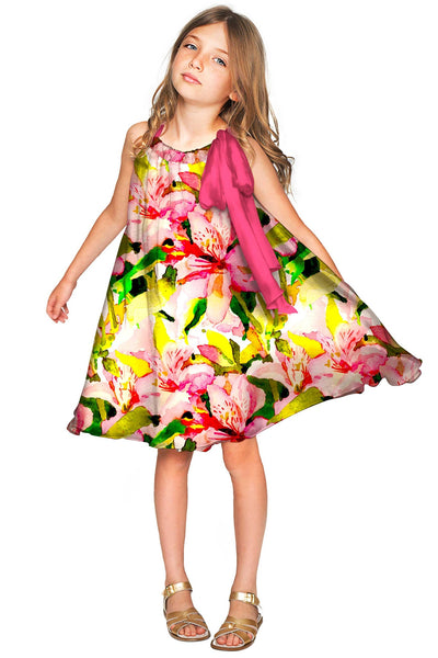Havana Flash Melody Chiffon Fancy Floral Dress - Girls