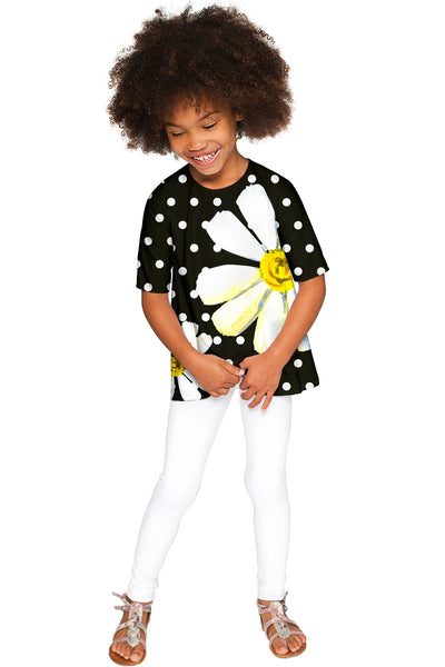 He Loves Me Sophia Black Elbow Sleeve Party Top - Girls