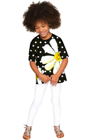 He Loves Me Sophia Black Elbow Sleeve Party Top - Girls - Pineapple Clothing