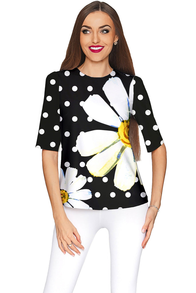 He Loves Me Sophia Black Dressy Evening Top - Women - Pineapple Clothing
