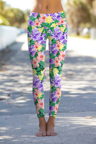 Hello May Lucy Floral Printed Performance Leggings - Women - Pineapple Clothing