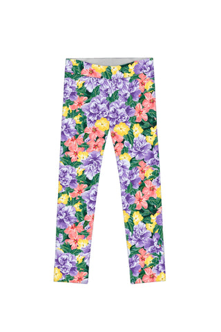 Hello May Lucy Cute Floral Printed Summer Leggings - Girls - Pineapple Clothing