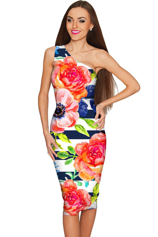 Hey-Sailor! Layla Floral Bodycon Summer Eco Dress - Women - Pineapple Clothing