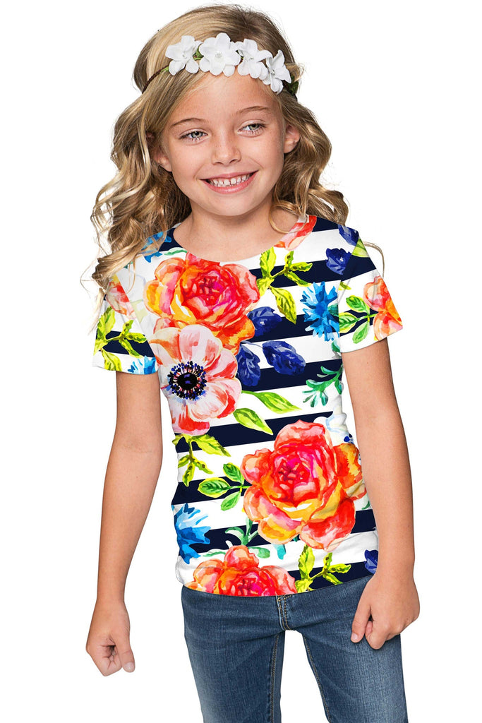 Hey-Sailor! Zoe Designer Floral T-Shirt - Mommy & Me - Pineapple Clothing
